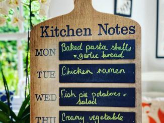 meal planning menu board
